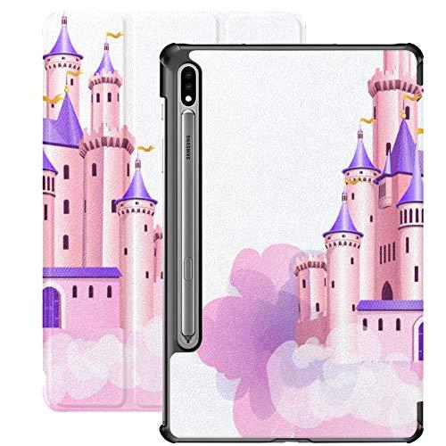 Funda para tablet Samsung Galaxy Tab S7/S7 Plus Samsung Galaxy S7 Plus y Samsung Galaxy S7 Plus con soporte para tablet Samsung Galaxy Tab S7 de 11 pulgadas, S7 Plus de 12,4 pulgadas, color rosa