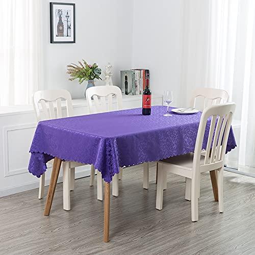 LIUJIU Mantel de diseño original, lavable, impermeable, rectangular, para cocina, comedor, decoración, lavable, 2,4 m