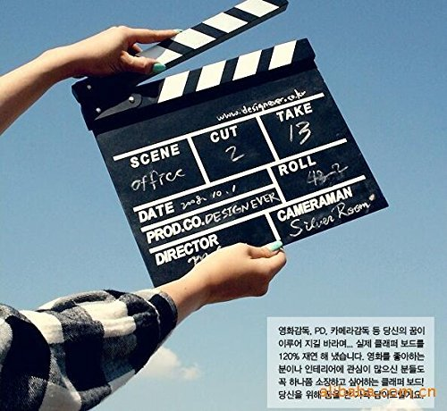 HEMALL 1pcs Director Video Scene Clapperboard TV Movie Clapper Board Film Slate Cut Prop Q568