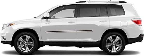 Dawn Enterprises CI2-HIGH Color Insert Body Side Molding Compatible with Toyota Highlander - Creme Brulee MICA (5B2) with Brite RED Insert (20)