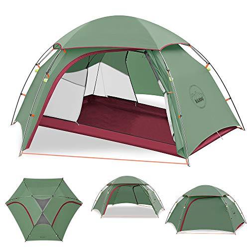 KAZOO Ultraleicht Camping Zelt Wasserdicht Trekking Outdoor Wasserdicht zelte 2 Personen Doppelschicht Kuppelzelt Zelt 3-4 Saison, 3 Aluminiumstange,Wasserdicht WS 3000mm