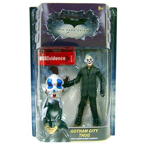 Gotham City Thug (Happy Mask, Brown Hair) with Crime Scene Evidence Movie Masters Action Figure