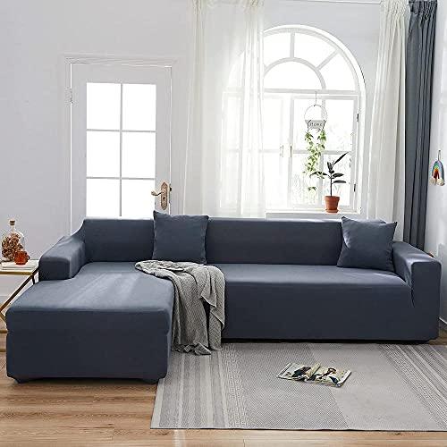 Sofábico elástico Zug en forma de L Sofab Zug adecuado para 1/2/3/4 asiento y sofá en forma de L (sofá en forma de L debe comprar dos piezas)