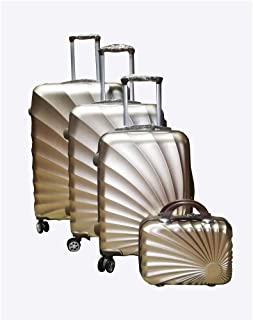 Love Trolley 3Pcs Set with Beauty Case, Gold