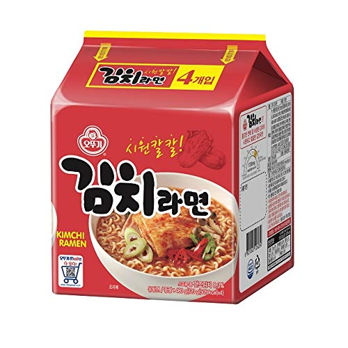 [Ottogi] Kimchi Ramen (4 Stück) / Koreanisches Lebensmittel/Koreanisches Rammen (Übersee-Direktversand)