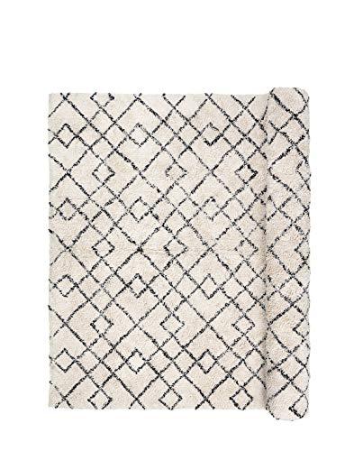 Janson matta, svart och elfenben, Broste Köpenhamn 140 x 200 cm