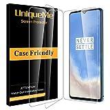 UniqueMe [3Pack] Schutzfolie für Oneplus 7T Panzerglas, Oneplus 7T Folie, HD klar gehärtetes Glas Bildschirmschutz