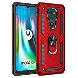 Best ST Coque Motorola Moto G9 Play/Moto E7 Plus/G9, HD Verre Trempé, Etui Housse de Protection...