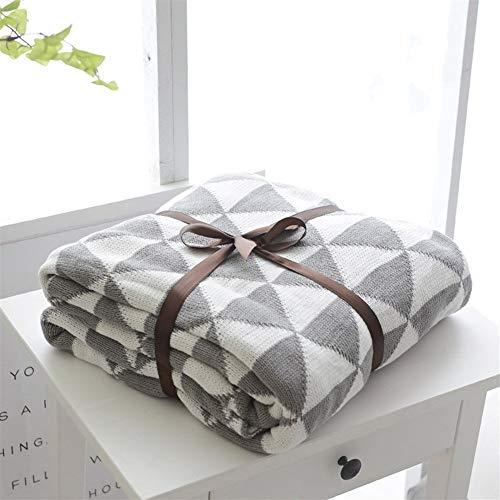 Decke Super Soft Textured Wirft Decken-Sofa-Bett Warm großes Sofa Snug Rug Deluxe Blanket Für Schlafzimmer nach Hause (Color : Gray, Size : 130x160cm)