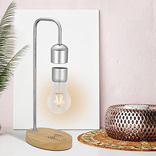 Vogvigo Lámpara magnética Flotante Luz de Noche LED con Cargador inalámbrico Lámparas de Mesa...