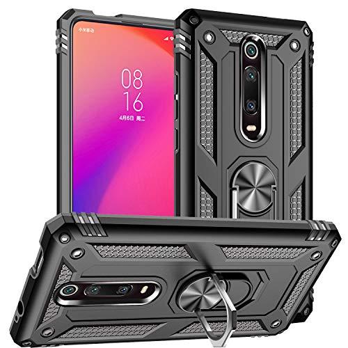Xiaomi Mi 9T Case,Xiaomi Redmi K20 Case,Hybrid Heavy Armor Silicone Protective Cover Case for Xiaomi Mi 9T / Mi 9T Pro/Redmi K20 / Redmi K20 Pro (Black)