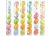 Gruppo Maruccia Uova Pasquali da Appendere Confezione da 36 addobbi per la Pasqua dipinte a Mano Misura Grande 8 Centimetri