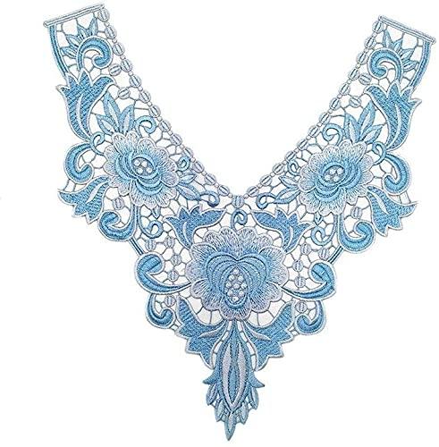 Aeromdale Bordado cuello de encaje apliques de costura en parches florales para...