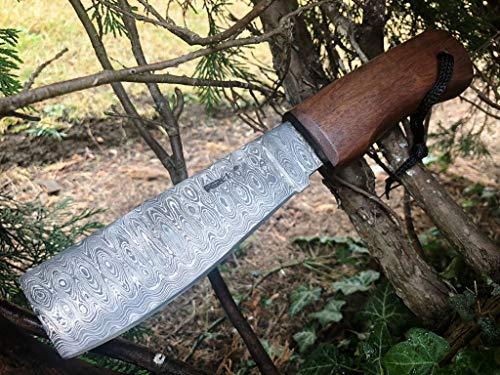Machete fatto a mano di damasco, coltello da caccia