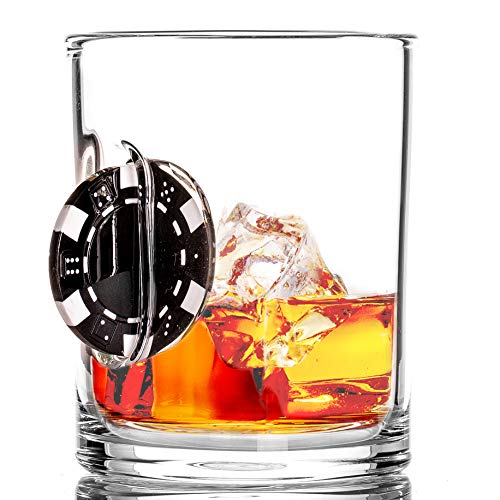 Stuck in Glass Up the Ante 10 oz Whiskey Glass | Poker...