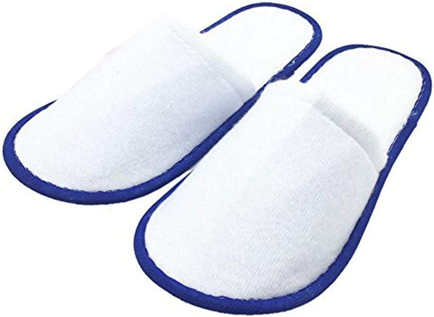 Disposable Indoor Hotel Slippers, Closed Toe One Size Fit Most Men and Women for Spa Slippers, Party Guest, Hotel and Travel