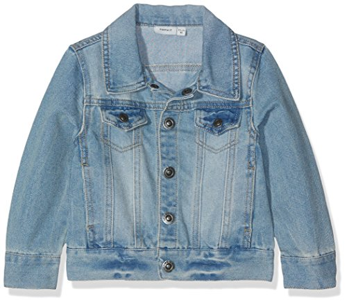 NAME IT Mädchen NITADAN DNM Jacket MZ GER Jacke, Blau (Light Blue Denim), 92