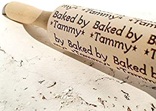 Custom personalized embossing rolling pin, wooden baked by rolling pin, Cookies decorating roller, Laser engraved rolling pin