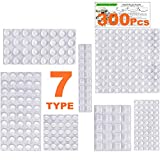 Clear Rubber Feet Bumpers Pads 300 Pieces Self Adhesive Transparent Stick Bumper...