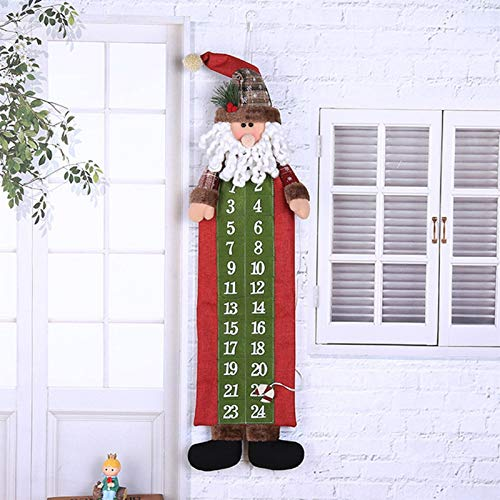 Sz ZSHENG® Neue Frohe Weihnachten Dekorationen for Zuhause Anhänger Geschenk Weihnachten Weihnachten Adventskalender Traditionelle Wand Hängende Dekoration (Color : A)