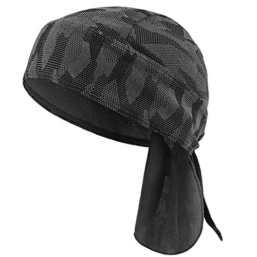 HASAGEI Sports Bandana Cap Herrem Damen Biker Bandanas Kopftuch Hat (Schwarz)