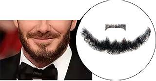Remeehi Goatee męska broda ludzkie włosy koronka ręcznie wykonana sztuczna twarz wąsy kostium udawaj bei