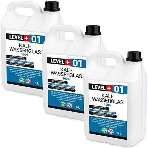 15 L Kaliwasserglas 100% Haftgrund Bindemittel Mauerabdichtung Wasserglas Wassersperre, Silikat RM01
