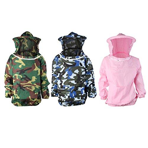 FITYLE Professioneller Imker-Anzug Schutzausrüstung Mit Kapuze aus Baumwoll - Rosa
