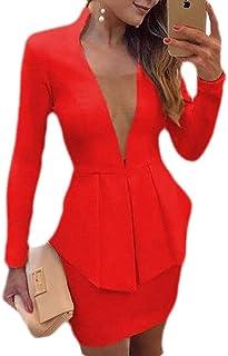 Red Silk Suit Peplum Jacket Pencil Skirt Char Formal Evening Wear Rhinestones buttons 10 M