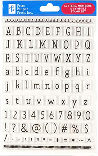 Letters, Numbers, & Symbols Clear Stamp Set (86 individual stamps)
