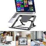 Soporte para portátil de altura ajustable, ergonómico, soporte para portátil con ángulo ajustable, plegable, para MacBook Pro/Air, Samsung, Dell, Lenovo, Samsung, Samsung, color gris