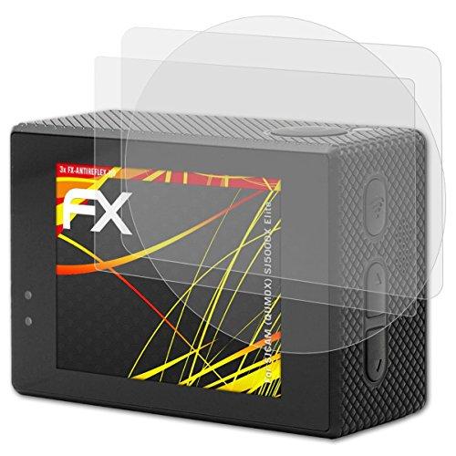 atFoliX Protector Película Compatible con SJCAM (QUMOX) SJ5000X Elite Lámina Protectora de Pantalla, Revestimiento antirreflejos HD FX Protección de Pantalla (Set de 3)