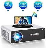 Proiettore WiFi,WiMiUS 7200 Lumen Videoproiettore Full HD Nativa 1920x1080P LED Proiettore Supporto 4K Dolby Schermo 300' per Home Cinema Theater Compatibile con Smartphone,Fire Stick,TV Stick, PC,PS4