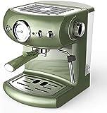 BXU-BG Hogar Italiana Cafetera 19BAR Cafetera exprés Semi automático de presión de la Bomba de visualización Doble de Control de Temperatura 220 Diseño Retro Verde