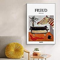 FreudPsychoanalystソファ静物ポスターとプリントキャンバスアート絵画リビングルームの壁の絵廊下クリニックの装飾40x60cm額装なし