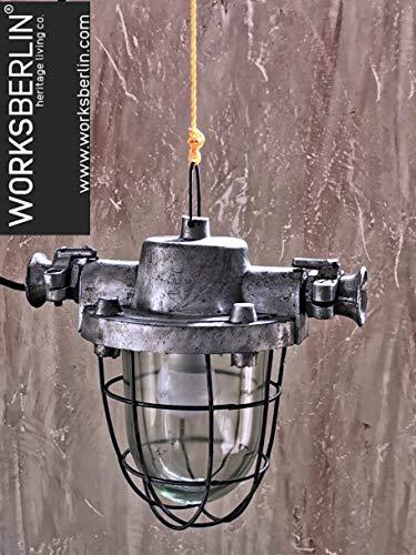 Restaurierte Bunkerlampen Fabriklampen Industrielampen 50er Jahre