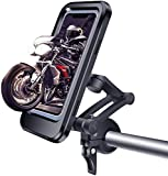IRMA Supporto Universale per Telefono Cellulare da Manubrio per Bicicletta da Montagna, con Manubrio Pieghevole a 360 Gradi visibile Pieghevole Borsa Impermeabile di Navigazione