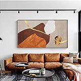 Impresión de lienzo 50x70cm sin marco cartel geométrico abstracto dorado decoración del hogar nórdico cuadro de arte de pared de moda para decoración de sala de estar