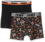 PUMA Boxer 2P Seasonal 1948 Print, Rouge (Black/Red 792), 9-10 Ans (Taille Fabricant:140) (Lot de 2) Garçon