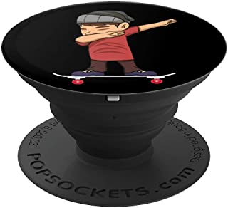 Skateboarding Teen Boy on Skateboard Gift for Skater  PopSockets Grip and Stand for Phones and Tablets