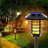 WJHMB Llama Luz Solar de Exterior LED IP65 Antorchas Luces solares Exterior Impermeable para Jardín, Patio, Terraza, Fiesta y Camino Entrada