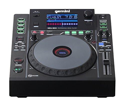 Gemini MDJ Series MDJ-900 Professioneller Audio-DJ-Mediaplayer mit 10,9 cm (4,3 Zoll) Vollfarbdisplay, 20,3 cm (8 Zoll) Jog Wheel, und programmierbaren Hot Cues