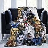 XUJT11O - Manta de Franela para Cachorros de Cachorro de Cachorro y Cara de Perro superacogedora y Suave, 3 tamaños a Elegir