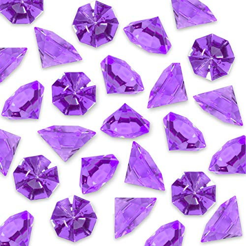 Acrylic Colorful Round Treasure Gemstones for Table Scatter, Vase Fillers, Event, Wedding, Arts & Crafts, Birthday Decorations Favor (36 Pieces) by Super Z Outlet (Purple)