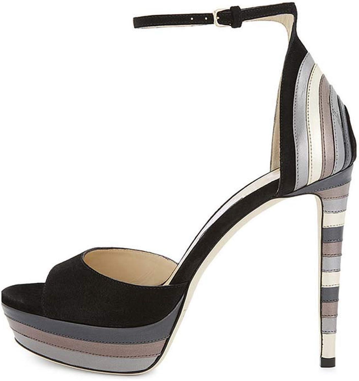 Women's Pleaser Heels Open Toe Sandals,Pointed Cross Strap High Heels shoes Slip on Lightweight Stiletto Heel Footwear