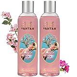Un Air d'Antan - Set mit 2 Bade- und Duschgelen, Kirschblüte, süßer und blumiger Duft:...