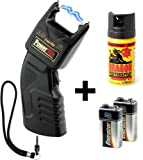 Security-Discount Germany - PTB Elektroschocker 500.000 Volt inkl. Batterien und Dragon Pfefferspray