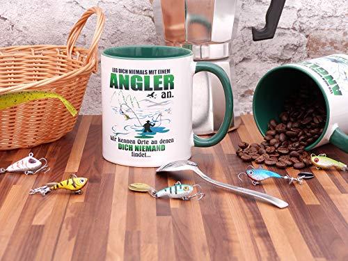 Kaffeebecher für Angeler