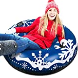 Anrapley Snow Tube 47 Inch Large, Heavy Duty Inflatable Snow Sleds, Highly Tolerant Abrasion Snow Toys for Winter Outdoor Fun, A Perfect Winter for Kids and Adults (Snow Tube)