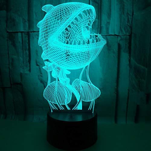 Cumpleaños Conmemorativo Regalo hecho a mano Concha de perla Luz 3D Gradiente multicolor Luz nocturna LED Productos táctiles para la luz de la habitación Luz visual Regalo 3D Lámpara de mesa pequeña